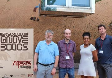 In front of M.I.T. Stata Center: Prof. Brian Williams, DI Bernhard Reiterer, Marlyse Reeves, DI Dr. Horst Pichler