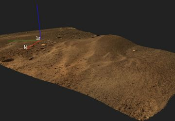 The Austrian team's first 3D visualisation with data from day 2 of the mission (Sol 2)